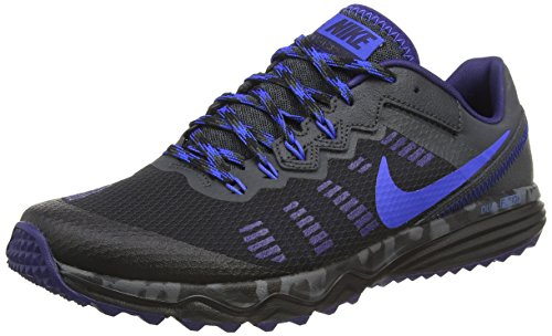 NIKE Men's Dual Fusion Trail 2 Running Shoe (9 D(M) US, Black/Hyper Cobalt/Anthracite/Loyal Blue) ()