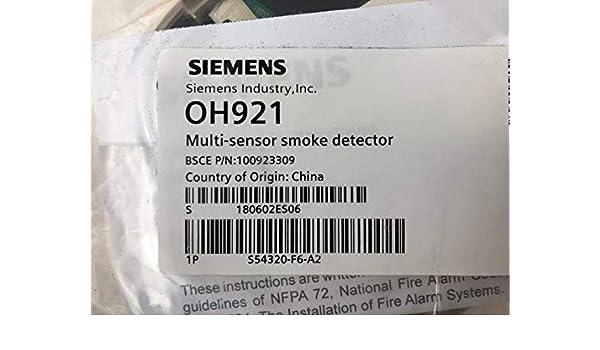 Amazon.com: Siemens OH921 - Multi-Criteria Intelligent Fire ...