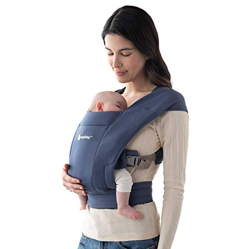 Ergobaby-Embrace-Cozy-Newborn-Baby-Wrap-Carrier-7-25-Pounds-Soft-Navy-BCEMANAVY