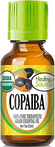 Organic Copaiba Essential Oil (100% Pure - USDA Certified Organic) Best Therapeutic Grade Essential Oil - 30ml