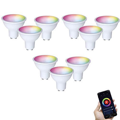 FlinQ GU10 Smart Lamp 9 stuks Smart Lamp | Smart Led Lamp | WIFI Smart Bulb Compatibel met Alexa en Google Assistant…