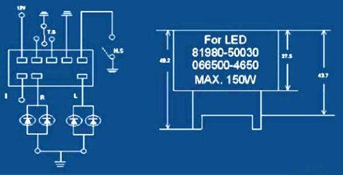 amazon com ijdmtoy 8 pin 81980 50030 066500 4650 electronic led 5 volt relay circuit diagram amazon com ijdmtoy 8 pin 81980 50030 066500 4650 electronic led flasher assy relay fix for lexus scion or toyota led turn signal light bulbs automotive