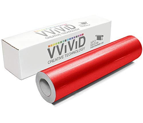 Used, VViViD DECO65 Reflective Red Permanent Adhesive Craft for sale  Delivered anywhere in USA