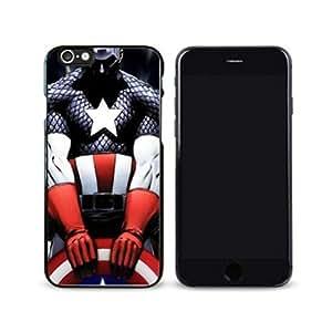SuperHero Captain America image Custom iPhone 6 Plus 5.5 Inch Individualized Hard Case