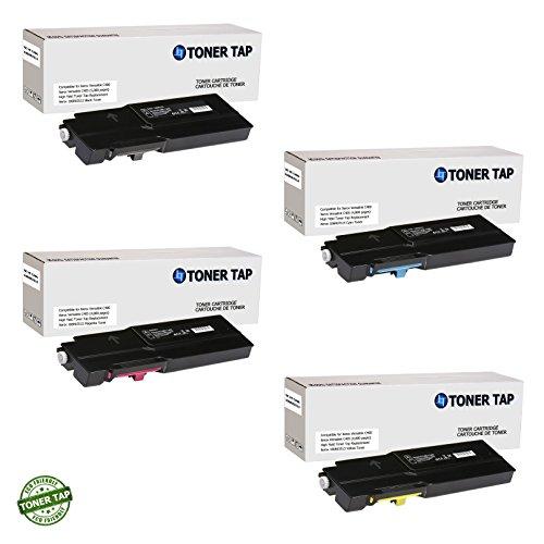 Toner Tap for Xerox Versalink C400/DN, Xerox Versalink C405/DN HIGH Yield Compatible Toner for 106R03512, 106R03514, 106R03515, 106R03513 (4 Pack, -