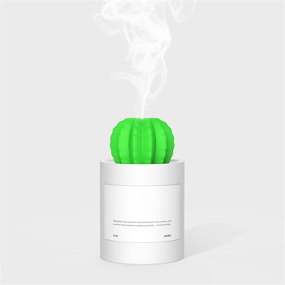 ARTSTORE Cactus Humidifiers,280ml USB Portable Mini Cool Mist Humidifier with Auto Shut-off for Bedroom,Home,Office,Travel Desktop,White