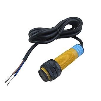 digiten ajustable infrarrojos proximidad interruptor fotoeléctrico Sensor de Detección NPN NO 12 V 24 V: Amazon.es: Amazon.es