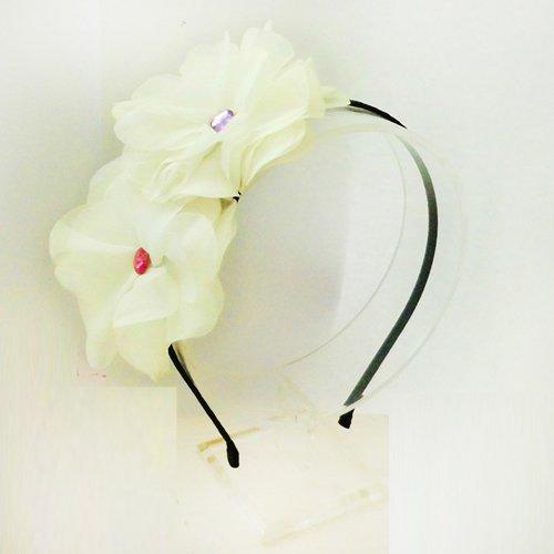 World Pride Hot Lovely Metallic Sweet Lady Hollow Rose Flower Elastic Hair Band Headband - Gold