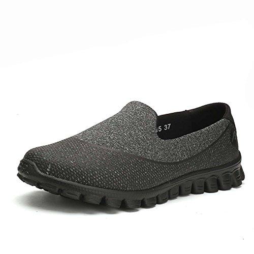 Negro Al Camino Montaña Del Zapatos Antideslizantes Cordones Deporte Zapatillas Con Botas Funcionamiento Colchón La De Aire Mujer Ocio YT0na