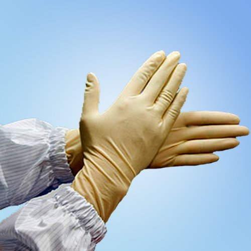 9'' Latex Cleanroom Gloves, 1000/case (Large)