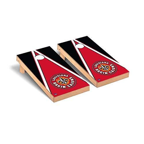 Victory Tailgate Regulation Collegiate NCAA Triangle Series Cornhole Board Set - 2 Boards, 8 Bags - Louisiana Ragin Cajuns