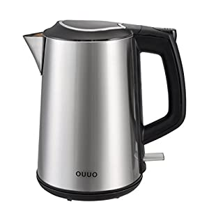 OUUO Cordless Stainless Steel Double Wall Electric Water Kettle 1 : Hefty and competent