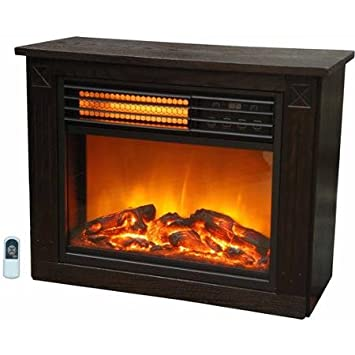 Amazon.com : Lifezone Compact Infrared Heater/Fireplace ...