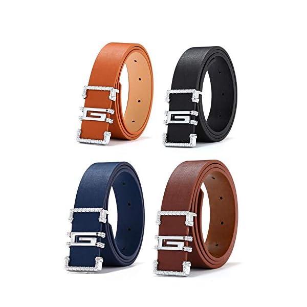 Firally Hot sale Cintura,Cintura Sottile Sottile in Pelle Casual Moda Casual Sottile Unisex Dimensioni Regolabili… 2 spesavip