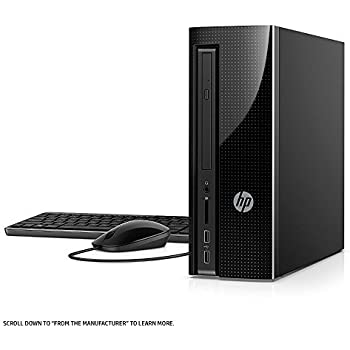 2018 HP Slim 270 High Performance Desktop Tower, Intel Celeron G3930 Processor, 4GB DDR4 Memory, 500GB 7200RPM Hard Drive, DVD, WIFI, Bluetooth, ...