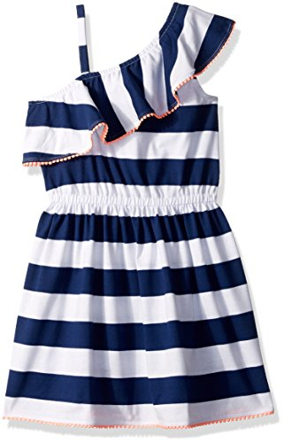 Tommy Hilfiger Big Girls' Yarn Dye One Shoulder Dress, Fl...