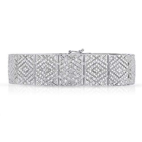 (NATALIA DRAKE Vintage Wide Genuine Diamond Bracelet-Unisex (2.00))