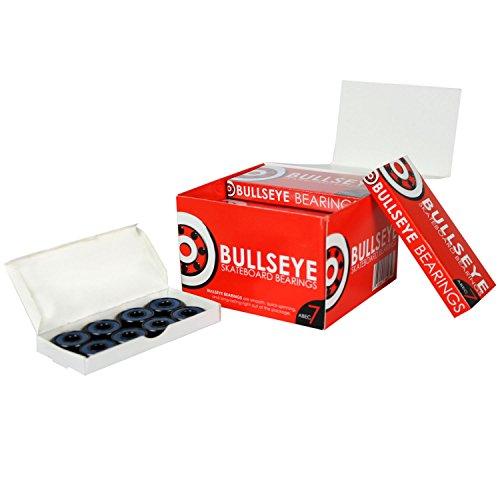 Bullseye Skateboard Bearings ABEC 7 Longboard 8mm Standard10 PACKS OF 8 from Bullseye