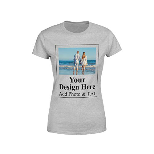 Arokan Customize Shirts for Women Custom T Shirts Design Your Own Crew Neck Womens Personalized Tshirts (Wedding Designs T-shirt)