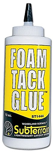 Glue Foam Board - WOODLAND SCENICS ST1444 Foam Tack Glue 12 oz WOOU1444
