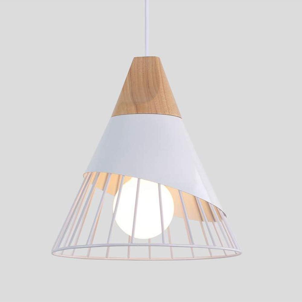 Xindaxin iluminación colgantes de la forma de bádminton creativa nórdica, araña de madera sólida moderna del LED, lámparas de techo Sala de estar Comedor Estudio Lámpara de cabecer,Blanco
