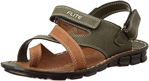FLITE Men's Olive Flip Flops Thong Sandals-8 UK/India (42 EU)(PUGN49G)