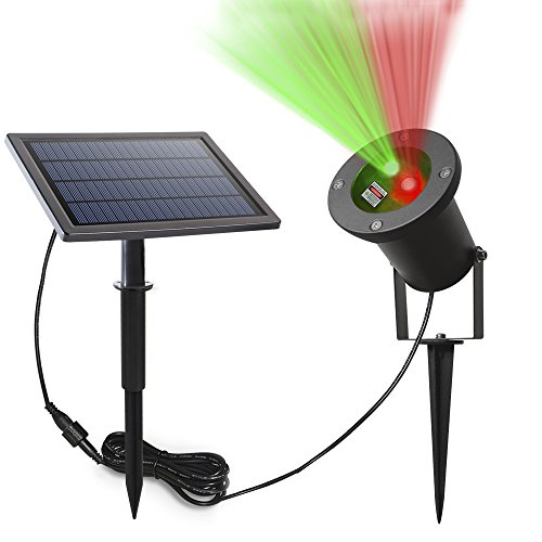 Solarmks Laser Solar Lights Solar Lights Outdoor Red & Green Laser Christmas Lights,Wireless Waterproof Security Decorative Landscape Lighting for Patio Deck Yard Path Home Driveway
