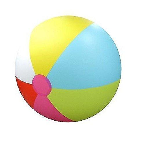 Media Sports Giant Inflatable Over 6' Feet Tall Beach Ball (Rainbow)]()