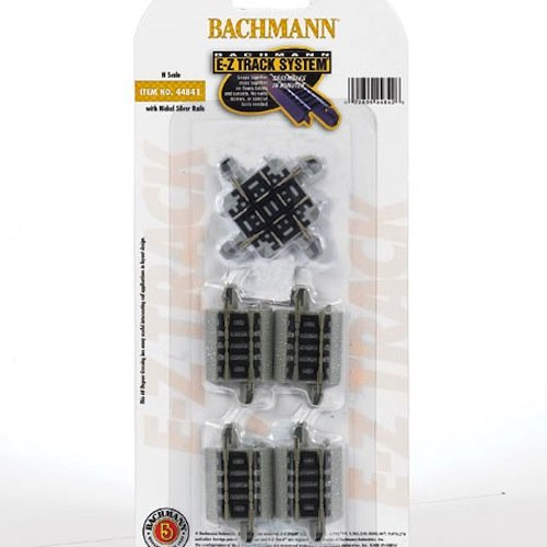 Bachmann BAC44841 N-Scale 90 Degree Crossing E-Z Track Nickel-Silver NS