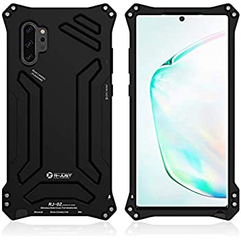 Galaxy Note 10 Plus Case,Bpowe Aluminum Metal Premium Protection Shockproof Military Bumper Heavy Duty Sturdy Protective Cover Case for Samsung Galaxy Note 10 Plus/Note 10+ 5G (Black, Note 10+ 6.8
