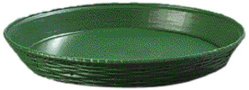 Carlisle 652609 WeaveWear Polypropylene Round Basket, 1.8 qt. Capacity, 11-7/8 Dia. x 1-1/2'' H, Green (Case of 12) by Carlisle