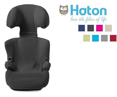 Haton - Funda para silla de coche grupo 2/3, color antracita