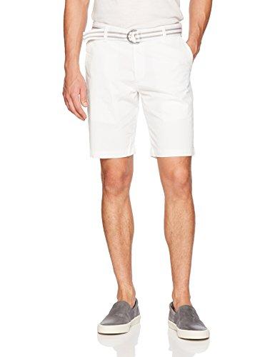 (LEE Men's Dungarees Walker Flat Front Short, White 32)