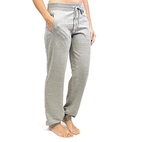 Femmes Pantalon De Jogging Course Gym Bas - gris élastique bas, Femme, EU 40/42
