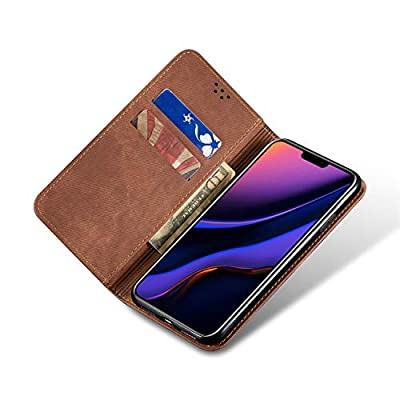 BeyeX Samsung Galaxy S10 Flip Case Leather Cover Kickstand Cell Phone case Card Holders Luxury Business Brief 1 Card Slot Money interlayer Mature (Brown): Toys & Games