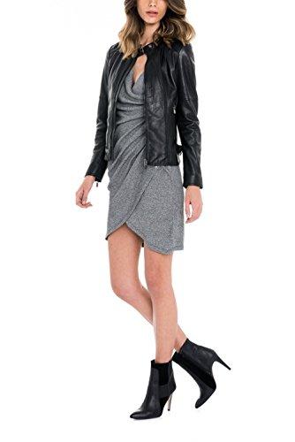 Salsa - Robe grise en maille - Femme