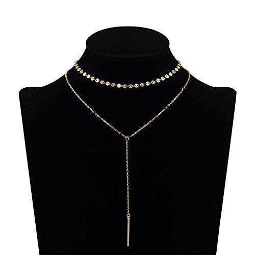 Zealmer Double Layers Choker Necklace