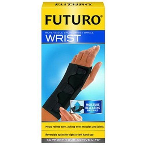 Futuro Splint Reversible and Adjustable Black Medium Wrist Brace - 15.9 cm - 19 cm by 3m