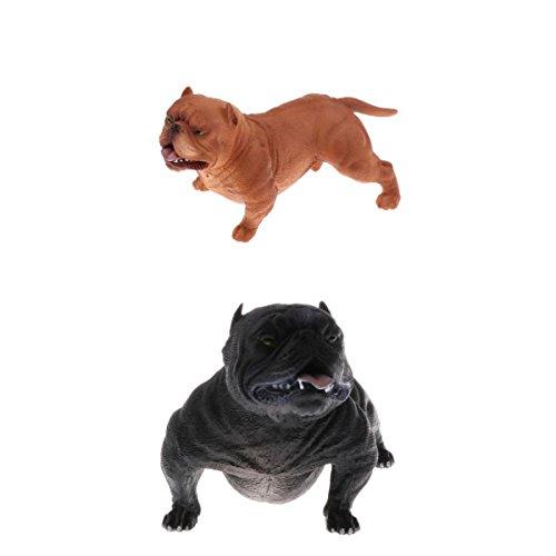 Perfk リアル 子ども ギフト バリーピットブル 科学 自然玩具 犬模型 動物モデル フィギュア おもちゃ 全2点 3色選択 - #3の商品画像