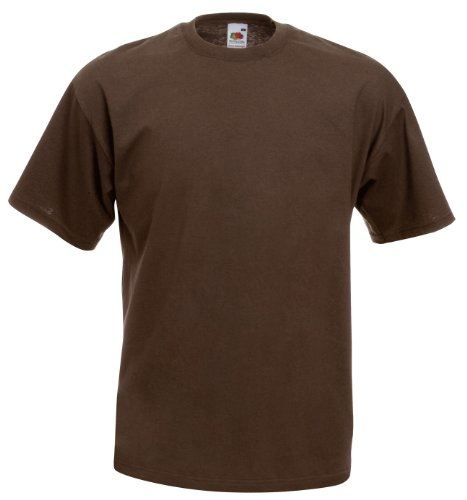 Fruit of the Loom Valueweight camiseta Chocolate