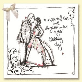 Son Daughter In Law Wedding Day Card