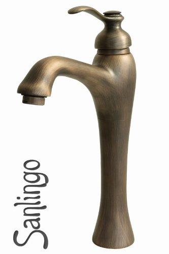 sanlingo antico ottone retro bagno lavabo miscelatore monocomando rubinetto