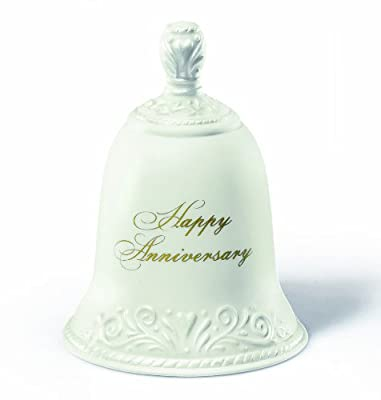 Russ Happy Anniversary Porcelain Bell, 4-Inch