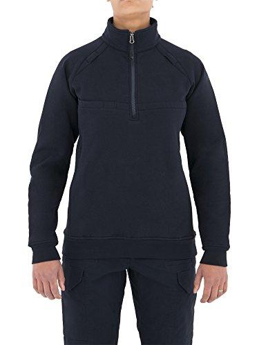 - First Tactical Women's Cotton Job Quarter Zip Shirt, Midnight Navy, Small
