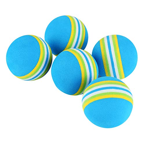 Patgoal 10 Pack Rainbow Soft Foam Play Balls Colorful Ball Toy for Pet Dog Cat (Blue S) by Patgoal (Image #3)