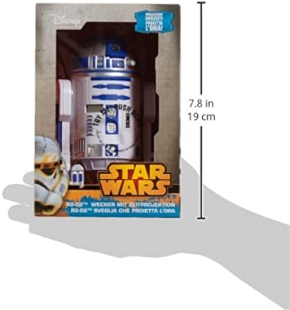 Star Wars Despertador con proyector de Hora Chopper STAR3: Amazon ...