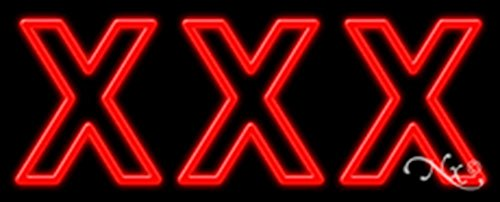 (13x32x3 inches XXX NEON Advertising Window Sign)