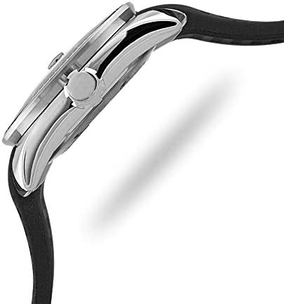 Locman Montre Automatique pour Homme avec boîtier en Acier et Bracelet en Caoutchouc Noir