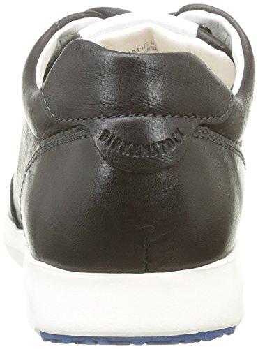 Birkenstock Manitoba - Zapatillas de cuero, Mujer Negro - Negro (Negro)