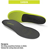 Superfeet CARBON, Sport Shoe Carbon Fiber Performance Thin Insoles, Unisex, Gray